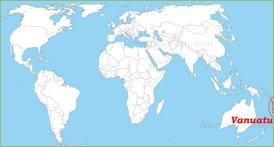 Vanuatu auf der Weltkarte