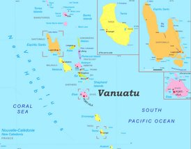 Vanuatu politische karte