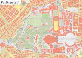 Große detaillierte karte von Vatikanstadt