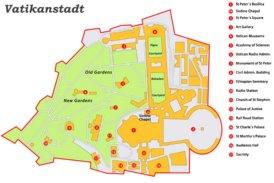Vatikanstadt sehenswürdigkeiten karte