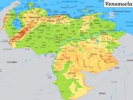 Physische landkarte von Venezuela