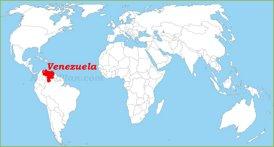 Venezuela auf der Weltkarte