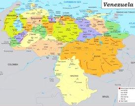 Venezuela politische karte