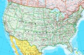 Große detaillierte karte von Vereinigte Staaten
