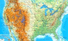 Große detaillierte karte von Vereinigte Staaten mit städten