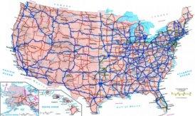 Straßenkarte von Vereinigte Staaten