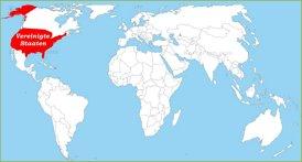 Vereinigte Staaten auf der Weltkarte