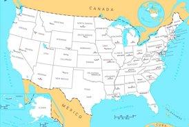 Vereinigte Staaten politische karte