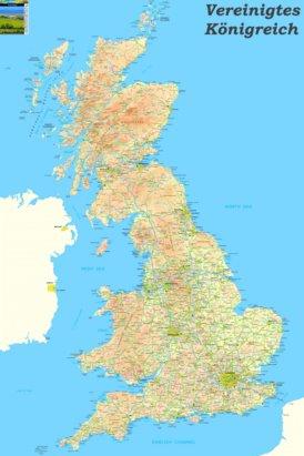 Große detaillierte karte von Vereinigtes Königreich