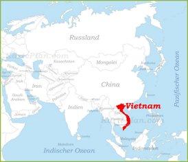 Vietnam auf der karte Asiens