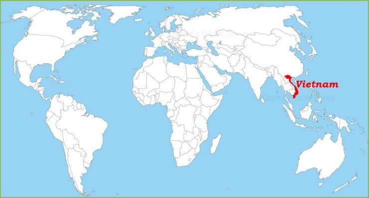 Vietnam auf der Weltkarte