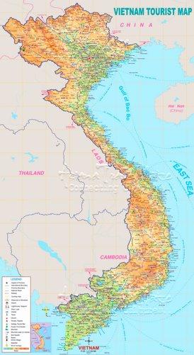Vietnam touristische karte