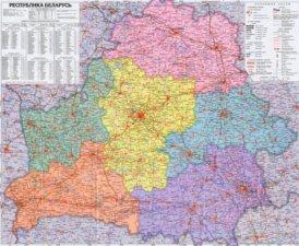 Große detaillierte karte von Weißrussland