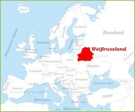 Weißrussland auf der karte Europas
