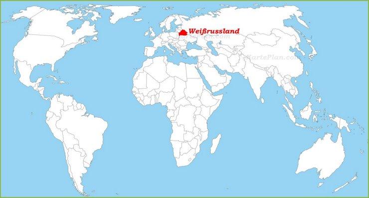 Weißrussland auf der Weltkarte