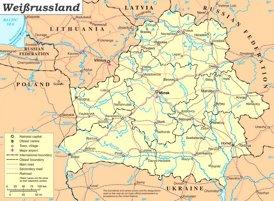 Weißrussland politische karte