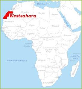 Westsahara auf der karte Afrikas