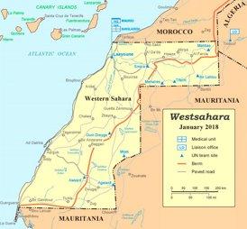 Westsahara politische karte