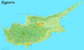 Straßenkarte von Zypern