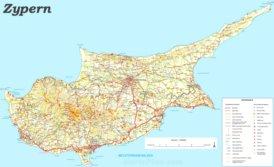 Zypern touristische karte
